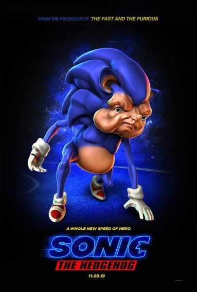sonic the hedgehog movie 2019 poster